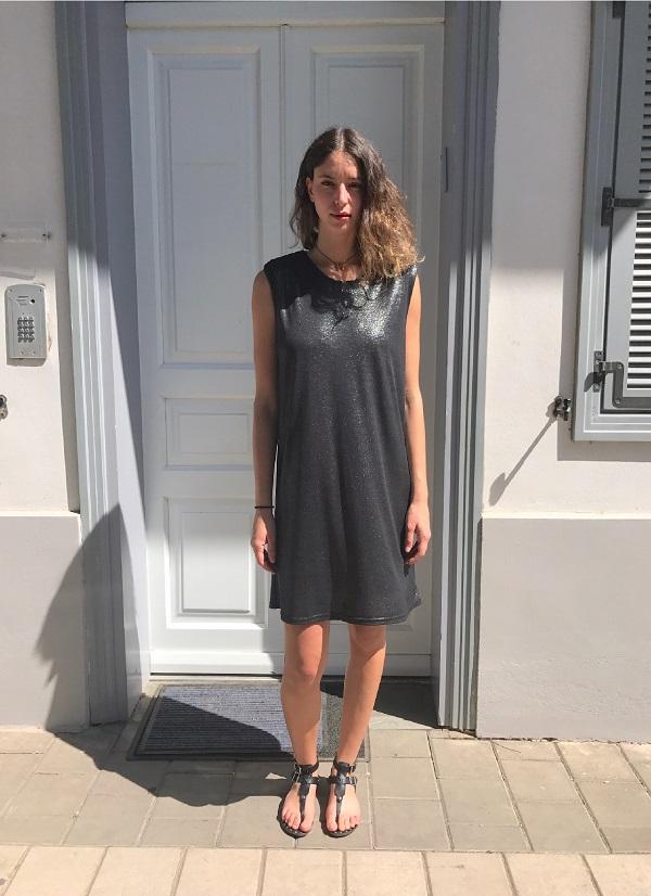 שמלת רויאל שחור מנצנץ