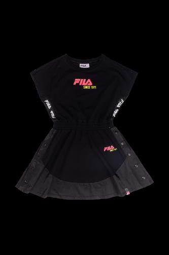 שמלה מסתובבת כפתורים FILA שחור 6-16
