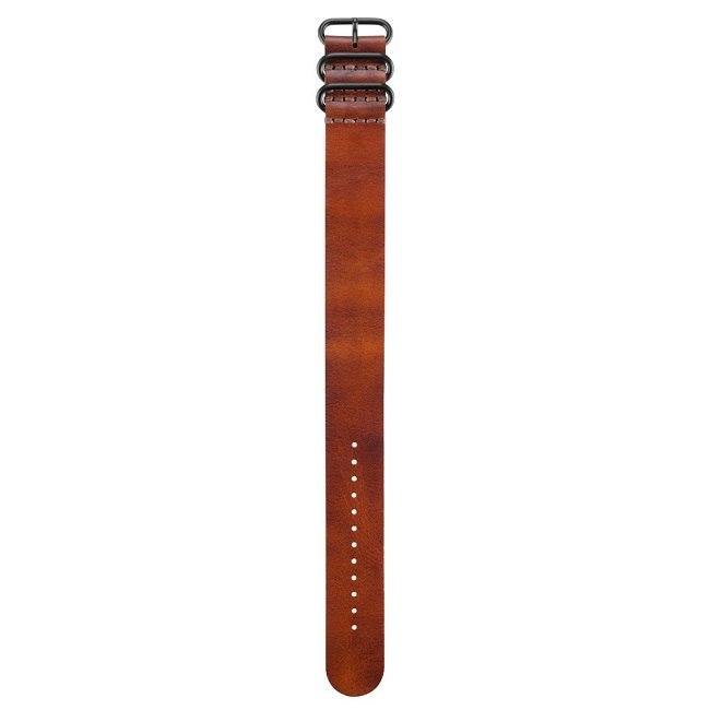רצועה עור מקורית לשעון גרמין Garmin Fenix 3 חום