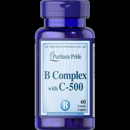-- קומפלקס ויטמין B בתוספת ויטמין C 500 -- מכיל 60 כמוסות