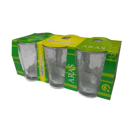 סט 6 כוסות זכוכית- דגם שבלול
