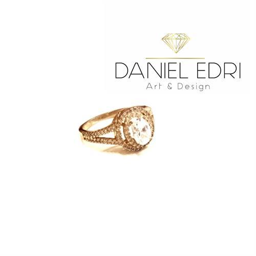 טבעת דמוי יהלום- גולדפילד