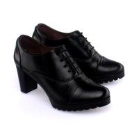 נעל עקב מרואה - שחור