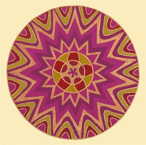 """מגנט אומנותי - מנדלת """"תפארת"""" - מנדלה מקורית בעבודת יד מודפסת על מגנט"""