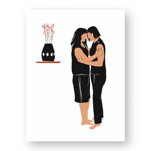 """זוג נשים ברגע אינטימי - מתוך """"החיים יפים"""", הסדרה האופטימית"""
