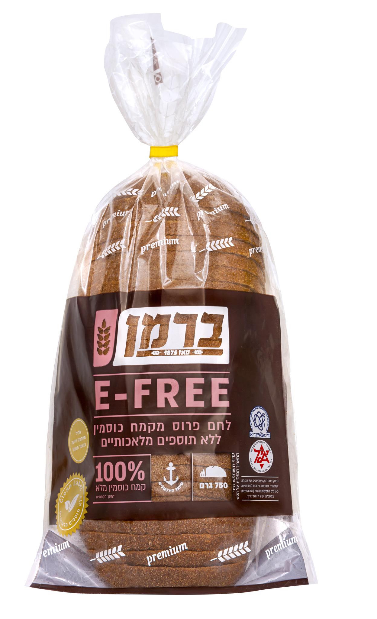 לחם כוסמין E-FREE