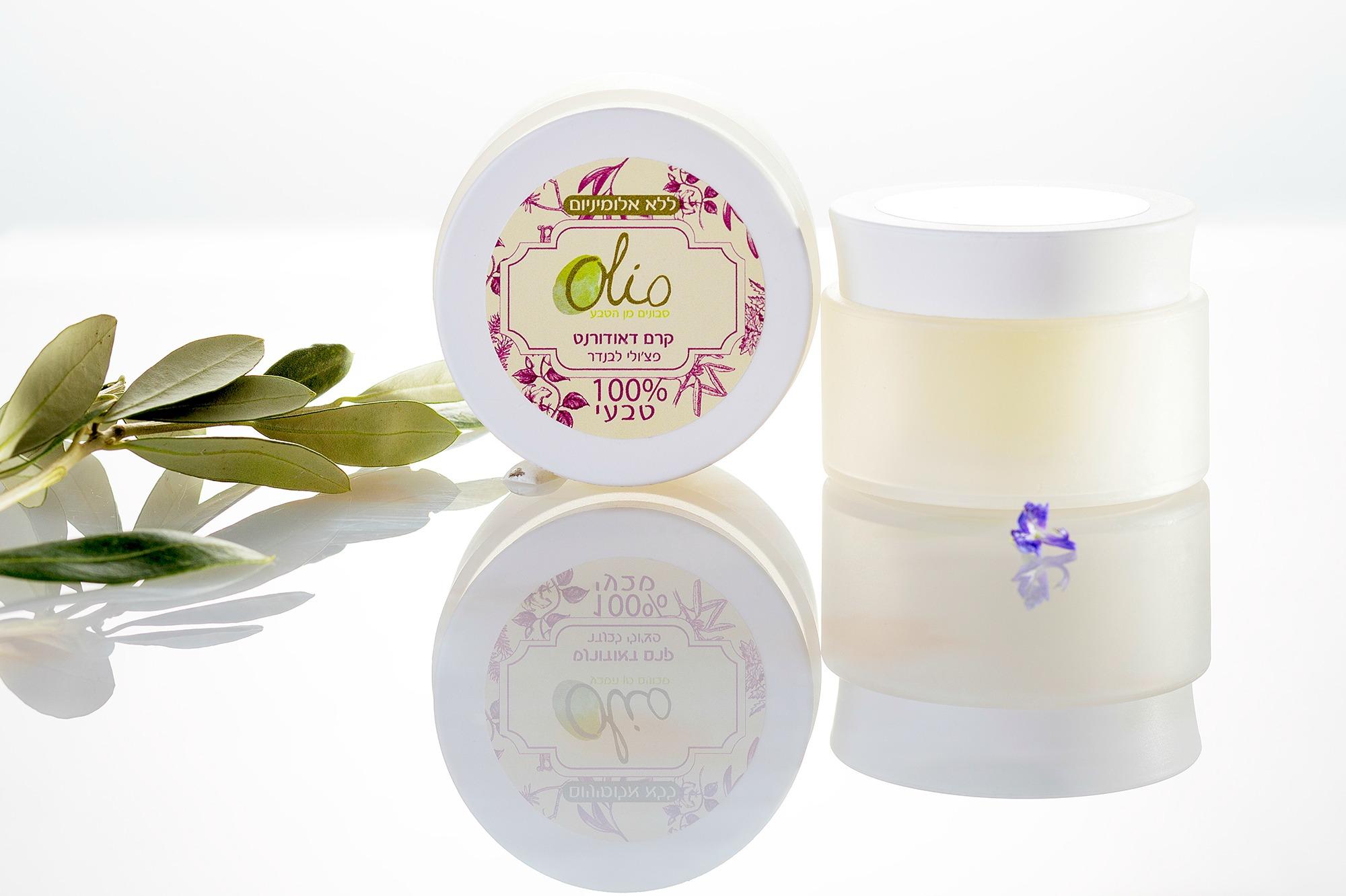 קרם דאודורנט טבעי לעור רגיש (ללא סודה לשתיה) וללא תוספת ריח