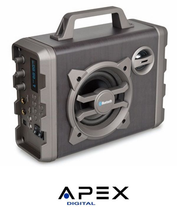 APEX רמקול בידורית קריוקי ניידת עוצמתי במיוחד W P.M.P.O110 דגם AP1330