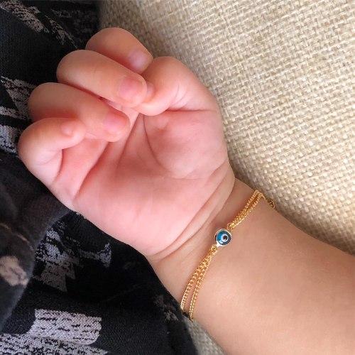 צמיד  עין וחריטה-גולדפילד- לילד/ה או תינוק/ת