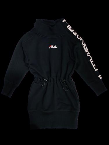 שמלת פוטר כיווצים שחורה FILA - מידות 4 עד 16 שנים