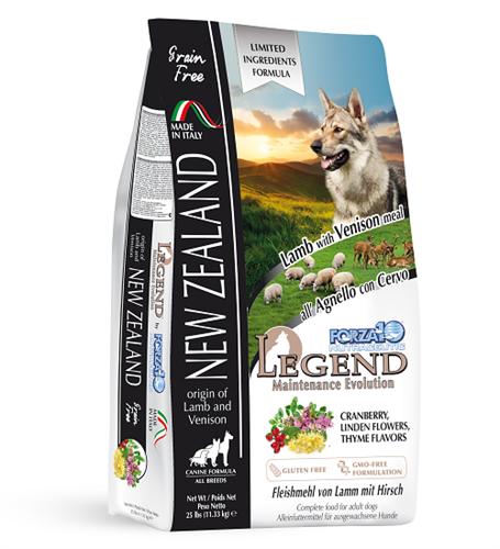 """לג'נד ניו-זילנד כבש וצבי 11.33 ק""""ג מזון יבש לכלבים"""