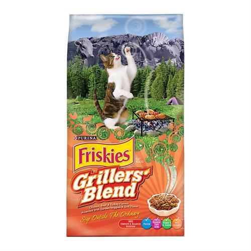 "פריסקיז מעדני השף מזון לחתולים 7.27 ק""ג Friskies Grillers Blend"