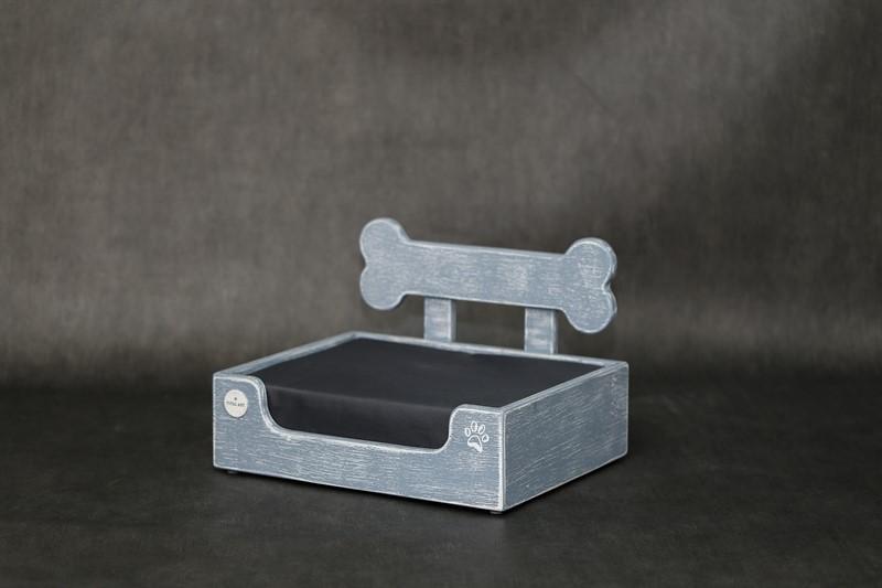 מיטה לכלב- בונזי XS אפור בטון