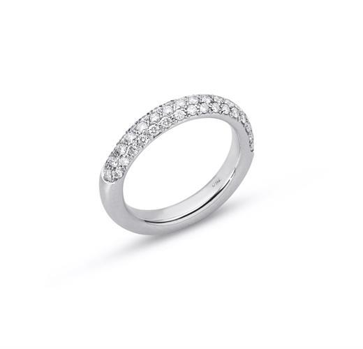 טבעת יהלומים 1.05 קראט טבעת 3 שורות יהלומים טבעת נצח