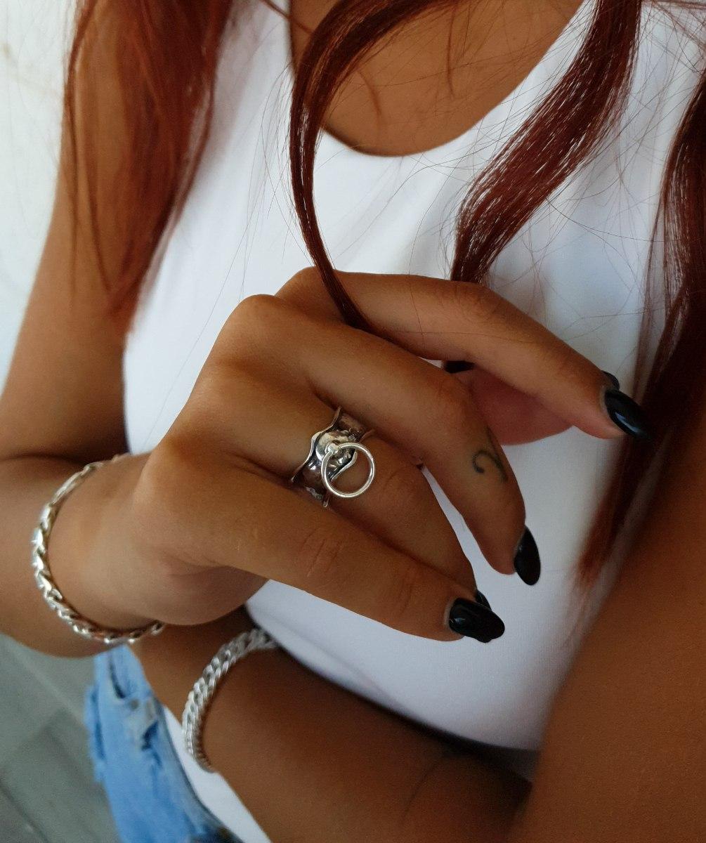 טבעת כסף פולי