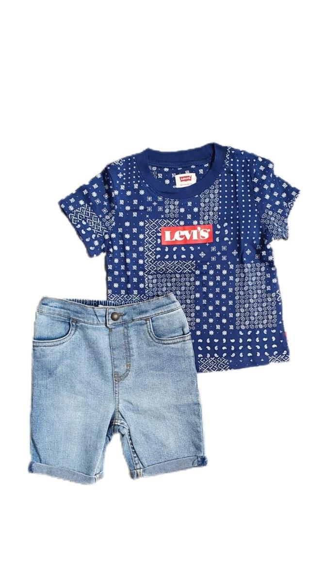 חליפת תינוק ברמודה ג'ינס חולצה בנדנה LEVI'S