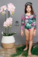 בגד ים שלם פרחים ירוק VIEW