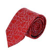 עניבה דגם גאומטרי אדום