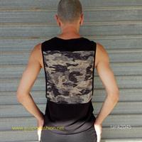 גופיית קומופלאז Dropped armholes Vest