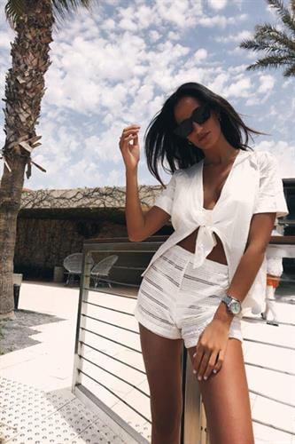 חולצת קשירה - Chloe - לבן