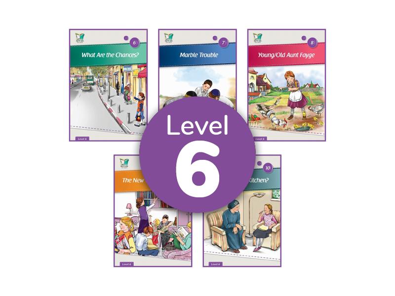סט 5 ספרונים באנגלית | Level 6