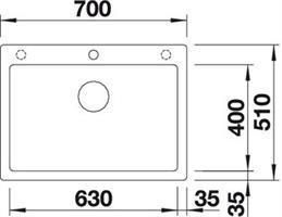כיור מטבח בלנקו פיוראדור דגם פלאון 8 PLEON - מוצר מקורי - יבוא מקביל