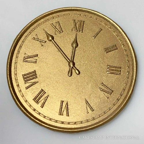 COUNTDOWN CLOCK - New Embosser Stamp For Fondant And Chocolate  Clock Embosser Stamp
