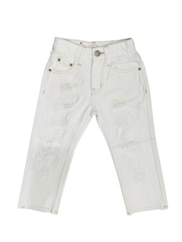 ג׳ינס קרעים סקיני לבן ORO