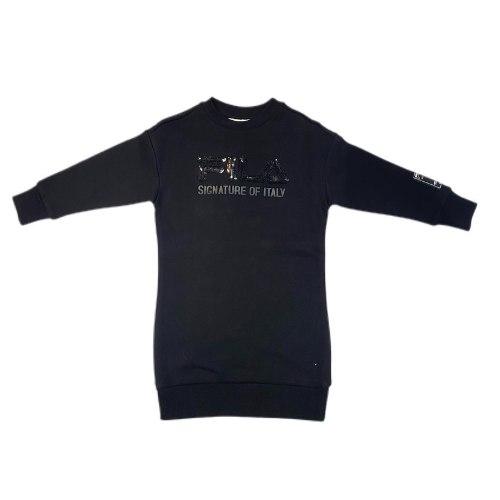 שמלת פוטר שחורה פייטים (4-16)