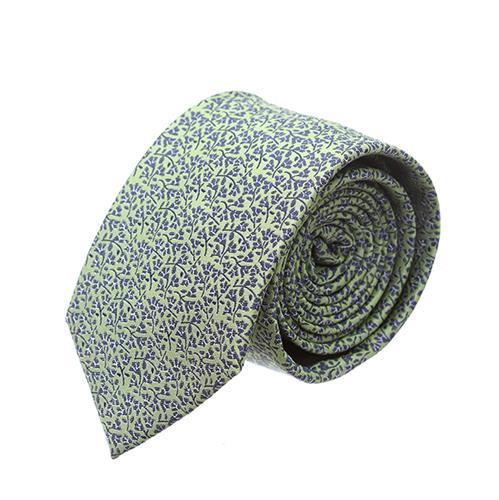 """עניבה """"שלכת"""" ירוק שחור"""