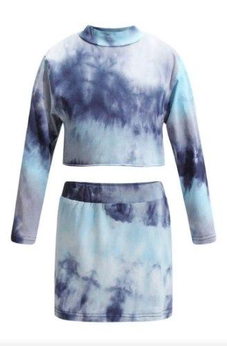 חליפת טאי דאי כחולה VIEW - בנות 2-14