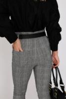 מכנס מייגן מחטב משבצות שחור לבן