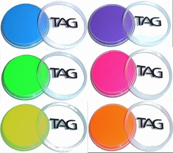 TAG - Ultra colors 90 gr  צבעי נאון זוהרים באולטרא