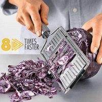 מנדולינה ידנית לחיתוך ירקות רב תכלתית 8 ב 1
