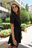 שמלת סאנסה צווארון + חגורה