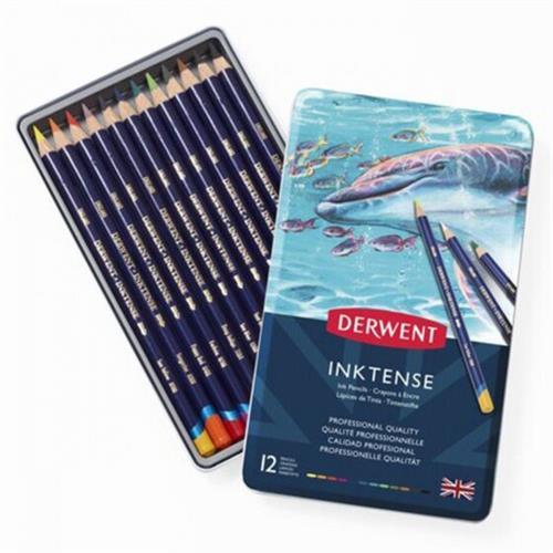 עפרונות דיו DERWENT צבעוניים 12 בסט