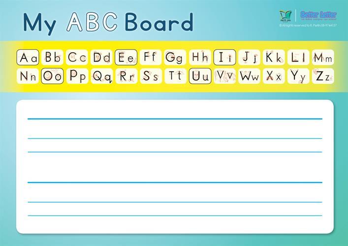 Better Letter ללימוד ABC | לוח לתלמיד