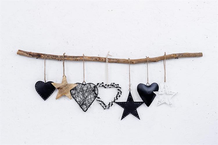 ענף מיקס עם כוכבים ולבבות - 7 יח'
