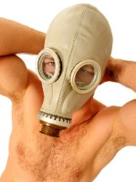 מסכת גז רוסית בצבע אפור
