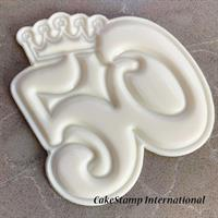 Number 50 crown mold- birthday /anniversary