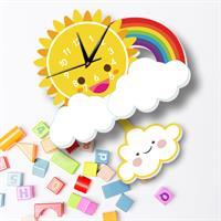 שעון קיר מעוצב- קשת בענן