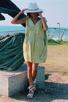 שמלת רוקסן אוברסייז כפתורים