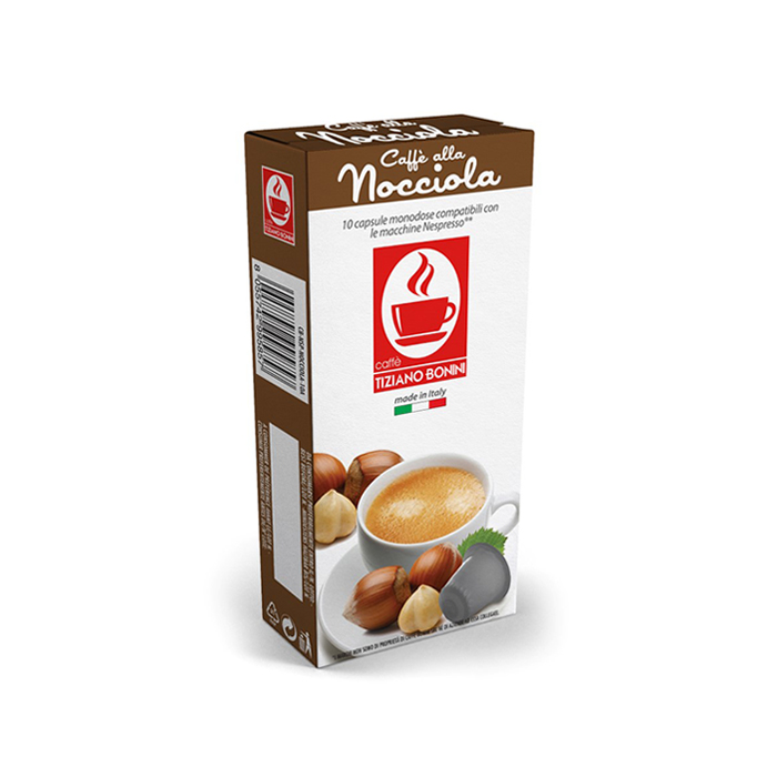 קפה בוניני Nocciola טעם אגוזים - תואם נספרסו