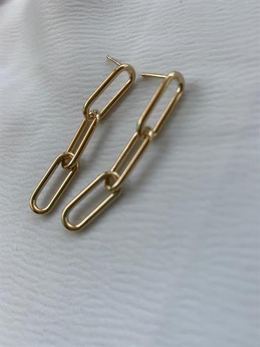 עגילי לורן בינוני זהב