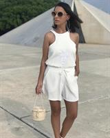 חולצת ריקמה ג'ואנה לבן