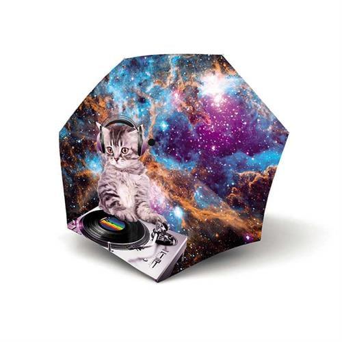 מטריה אוטומטית איכותית של המותג הגרמני המוביל בעולם KNIRPS- DJ space cat