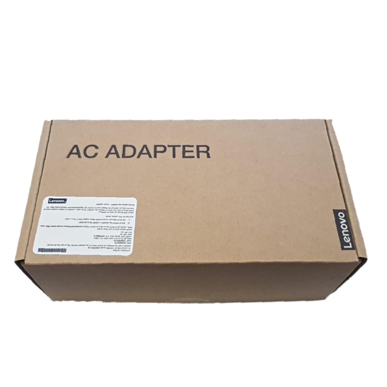 מטען למחשב נייד לנובו Lenovo 20V-3.25A 4.0*1.7 65W - אחריות יבואן רשמי
