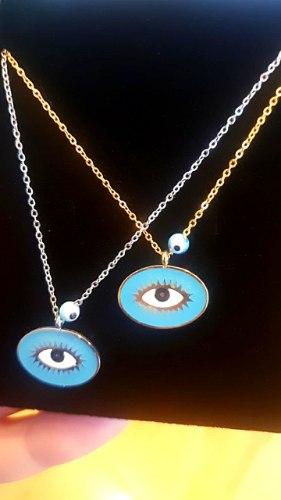שרשרת לאב תליון עין כחול