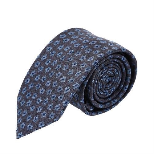 עניבה פרחים קטנים אפור תכלת