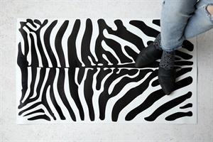 שטיח PVC - זברה רקע לבן